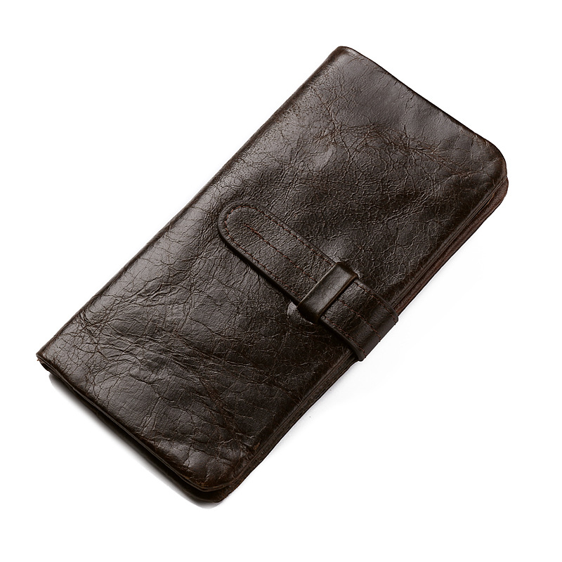 Brand Leather Mens Wallets with Coin Pocket Vintage Male Purse Functional Chocolate Genuine Leather Men Wallet with Card Holders(China (Mainland))
