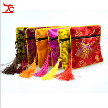 Retail One Piece Small Flower Indian Cotton Jewelry Gift Pouch Silk Jewelry  Storage Organizer Bag Gift Bag Free Shipping