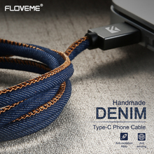 FLOVEME Denim Micro USB Charging Cable For Samsung LG Android Type C Cable For Xiaomi 4S 5 5s Redmi Data Sync Cable For iPhone