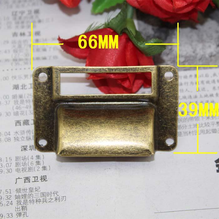 66x39mm 20Pcs Antique brass Label Frame handle Cup Pull drawer Handle Cabinet Cupboard Repair decoration Hardware<br><br>Aliexpress