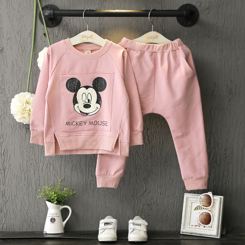 2017 New Pottern Tracksuit Spring Autumn baby children girls Cartoon Minnie Mouse Cotton Children Clothing Sets <br><br>Aliexpress
