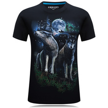 2017 Limited Direct Selling Print Men's T-shirts Homme Male Short Sleeve T Shirts Men Tee Man Casual Wolf Brand Clothes Hip Hop