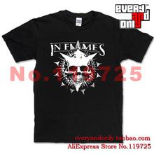 Flames Alternative metal Band Skull Casual Tee T-shirt Cloth