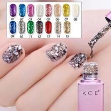 Sequins Super Flash Fashion  Chameleon Nail Polish Glitter Nail Lacquer Galaxy Holographic Glitter Top Coats