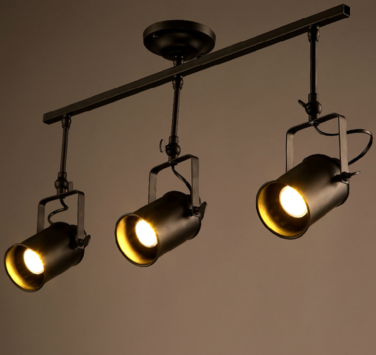 Loft vintage pendant light Creative personality industrial wind clothing shop bar cafe led spotlight<br>