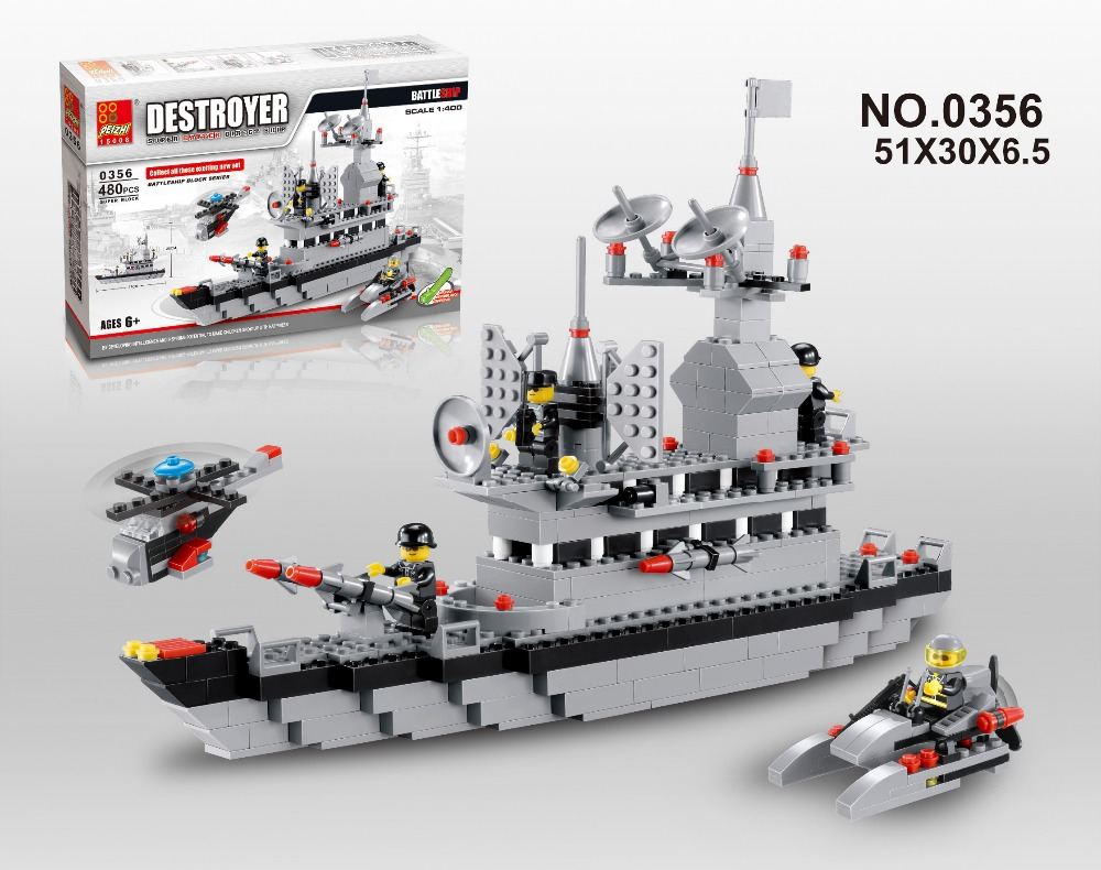 Free Shipping Hot Sale Army Battleship Building Blocks Set Toy For Children compatible with lego<br>