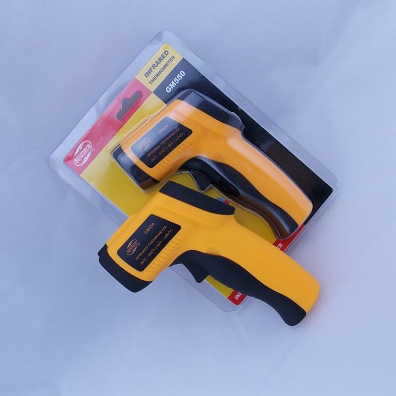 (With box)Non-Contact Digital Laser Temperature Gun IR Infrared Thermometer Sight GM550 -50~550C (-58~1022F)Emissivity 0.95 12:1<br><br>Aliexpress