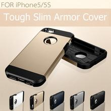 On Sale!Original Anti-knock Tough Slim Armor protective Case for iphone 5g 5s cell phone silicone protector cover + screen film(China)