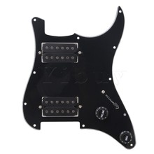 Yibuy BK Loaded Pickguard,Dual Humbuckers For Electric guitar(China)