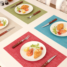 Japanese mat PVC insulation pad Western-style food table mat cloth bowl tray mats cushion North European Western-style food pad(China)