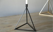 The Nordic style creative jewelry modern metal wrought iron candlestick ornaments triangle geometric model room decoration