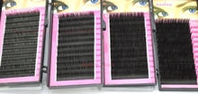 wholesale 0.15 utimate luxury silk lashes C curling 4 size mixed batch pink PVC boxes 12 lines natural false eyelashes(China)