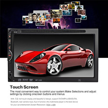 New 7 inch Auto Radio Car DVD Player In-dash Stereo Video Mic 2 din Car DVD/USB/SD/MP4 Player Bluetooth FM/AM Radio Audio