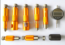 common rail injector valve stroke measuring tool kits for Bosch and Denso diesel injectors, common rail injector reppair tool