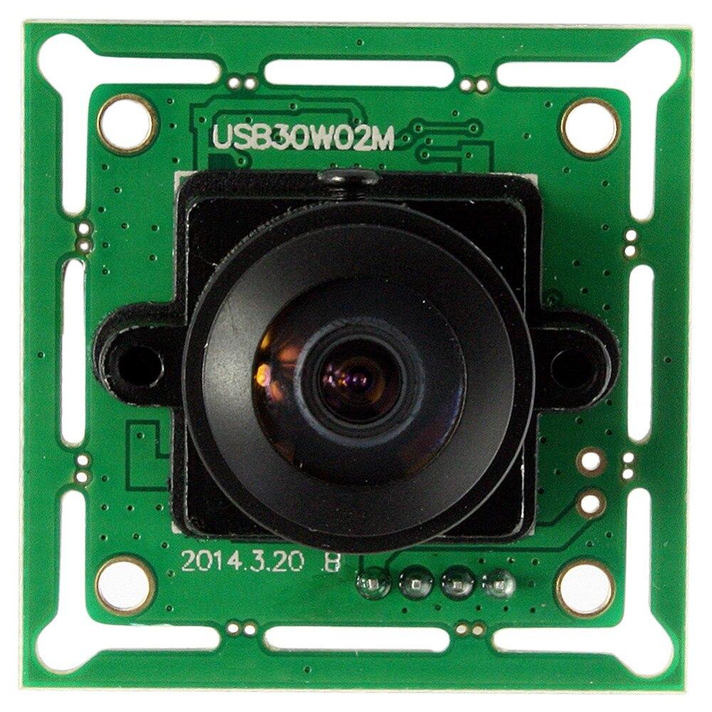 640* 480P 1/4 inch CMOS OV7725 wide angle 170degree fisheye lens USB 2.0 mini board vga fisheye camera module for atm<br>