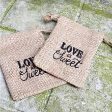 European style retro linen Candy Bag, jute sack, Coffee bean bag Wedding Party supply Mini candy bags Gift FA5-13L