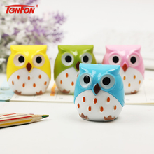 2PCS Kawaii Owl Pencil Sharpener Cutter Knife Learning Stationery(China)