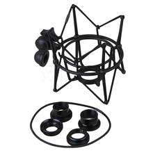 Yibuy Black Metal Large Size Cylinder Spider ShockMount Holder for Newman U87(China)