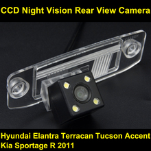 Rear View Reverse Camera for Hyundai Elantra Terracan Tucson Accent Kia Sportage R 2011 CCD night vision backup Parking camera