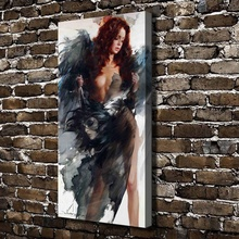 A1455 Sexy Girl Naked Devil Figures Scenery. HD Canvas Print Home decoration Living Room bedroom Wall pictures Art painting