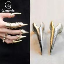 5 Pcs/lot Wholesale Hot Retro Punk Rock Gothic Talon Nail Finger Claw Spike Rings Jewelry