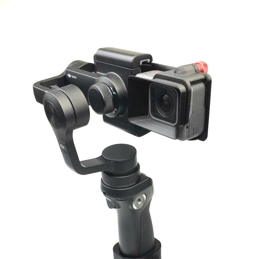 DJI OSMO Mobile Handheld Gimbal Turn Switch Mount Plate Camera Lens Sun Shade Hood for Gopro hero 5 DJI OSMO Z1-Smooth Zhiyun 5