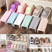 Creative Plastic Shoes Rack Adjustable Organizer Rack Space Saving Storage Hanger Durable Wardrobe Organization christmas gift(China)