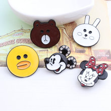 Free Shipping Girls Hair Jewelry Elastic Band Decor Enamel Metal Clips Oil Drop Animal Bear Rabbit Duck Monkey Clip Craft 30Pcs