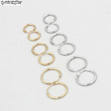 12 15 18mm three sizes 2017 trendy gold color nickel free alloy women fashion small hoop earrings African jewelry fj101 YOUREM