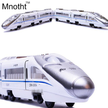 Simulation China's High Iron Harmony Train 41cm Long 4 joint Train Scale Metal Car Model Diecast Kids Pocket Toys Collection