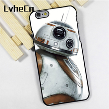 LvheCn phone case cover fit for iPhone 4 4s 5 5s 5c SE 6 6s 7 8 plus X ipod touch 4 5 6 The Force Awakens BB8 Droid Star War(China)