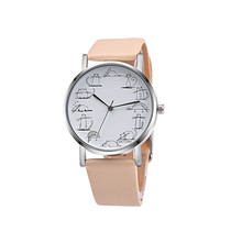Retro 2017 quartz watch women Lovely Cartoon Cat PU Leather Band Analog Alloy Wrist Watch clock women dress relogios femininos#4