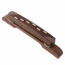 High Quality Rose Wood Guitar Bridge Wooden 6 Holes With Chrome Archtop 6 String Acoustic Guitar Accessories Tool