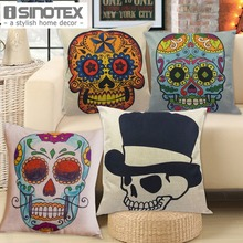 Skull Cushion Polyester&Linen 45*45cm/17.7*17.7'' (Filling not included) Home Decor Sofa Accessories Day Of Dead 1PCS/Lot