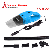 Hot Portable Car Vacuum Cleaner 120W 12V Handheld Mini Super Suction Wet And Dry Dual Use Vaccum Cleaner For Car 3 Colors