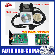 2017 Excellent Green PCB Board Newest 2014D Full Chip Auto Diagnostic Tool For VOLVO Vida Dice For VOLVO Series Multi-Language