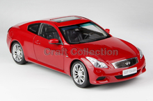Red 1/18 Infiniti G37 Coupe Diecast Model Cars Hot Selling Alloy Scale Auto Modell Limited Edition