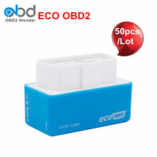 50Pcs/Lot Wholesale Price EcoOBD2 Economy Chip Tuning Box Diesel Eco OBD2 Lower Fuel & Emission For Cars DHL Free Shipping(China)