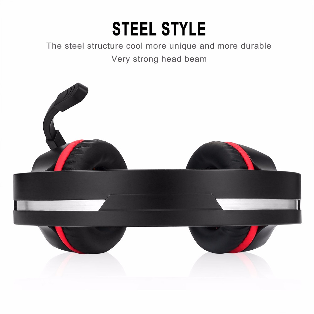 New Noise Canceling 3.5mm Wired Gaming Headphones with Microphone LED Light for Laptop Tablet Mobile Phones or PS4 XBOX ONE