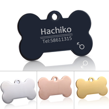 Free engraving  Pet cat collar  accessories Decoration Pet ID Dog Tags Dog Collars stainless steel  dog cat tag customized  tag