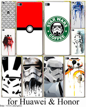 star wars coffee stormtrooper Hard Transparent Case Cover for Huawei p10 P6 P7 P8 P9 P10 Lite Plus & Honor 8 8lite 6 7 4C 4X G7