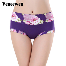Plus Size Women Underwear Panties Ladies Seamless Sexy Briefs Floral Print Lingerie Calcinhas Intimates Underpants Ropa S-4XL(China)