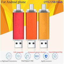 Mobile Phone Computer Dual Ssb Flash Drive Flat Twin Plug Pen Drive OTG USB Flash Drive 4G/8G/16G/32G/64G Pendrive OTG Stick