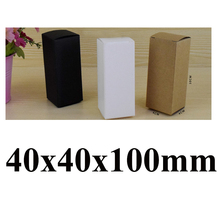 2016 Handmade Small 40x40x100mm White/Black /Kraft Paper Box  Food Jewelry Gift Box MOQ 50PCS Custom Logo Extra Cost MOQ 500pcs
