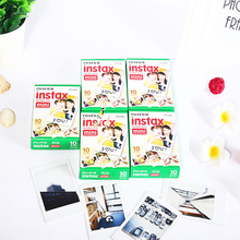 Original Fuji Fujifilm Instax Mini 8 Film White Edge Photo Papers For Polaroid 7s 90 25 55 Share SP-1 Instant Camera 50 sheets