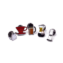 Kettle Pins And Brooches Enamel Channel pin Set red White colorful Mini coffee pot cups Brooch Oil Drip Lapel collar broches(China)