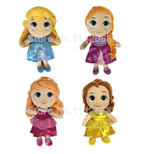 "New Princess Doll Collection 20cm 8"" Cinderella Rapunzel Belle Aurora Briar Rose Plush Toys Dolls For Girls Kids Gifts bonecas(China)"