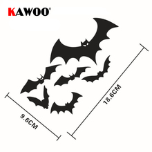 KAWOO Free Shipping Car Styling Funny Vinyl Reflective Creative Flocks of BATS Floating Car Stickers 18.6*9.6cm 1SET