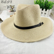 Cowboy Men's Spring Summer beach big along the sun folding sun canopy cool hat sun hat(China)