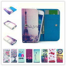 New Fashion phone cases Cartoon Flower Leather slot wallet pouch case skin cover For Aligator S5050 Duo HD IPS